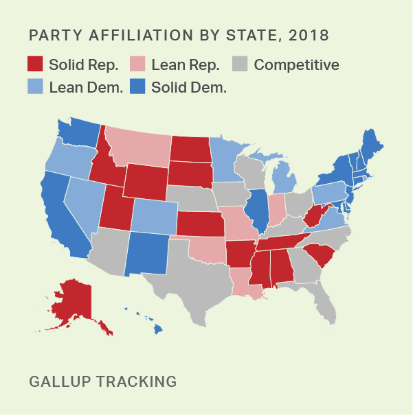 Party Affiliation   Gallup Historical Trends
