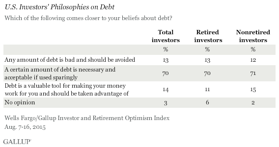 U.S. Investors' Philosophies on Debt