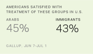 Less Than Half in U.S. OK With Treatment of Immigrants, Arabs