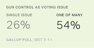 Gun Control as Voting Issue