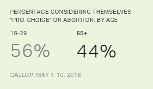 'Pro-Choice' or 'Pro-Life,' 2018 Demographic Table
