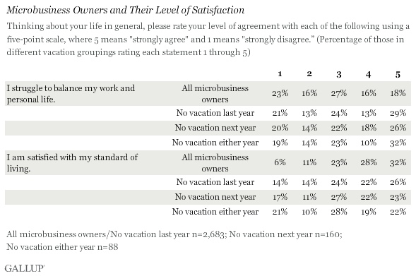 Microbusiness Owners and Their Level of Satisfaction