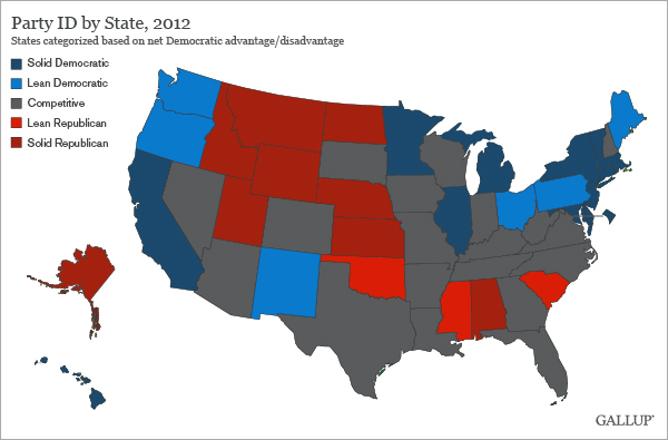 In The US Blue States Outnumber Red States To - Us party map