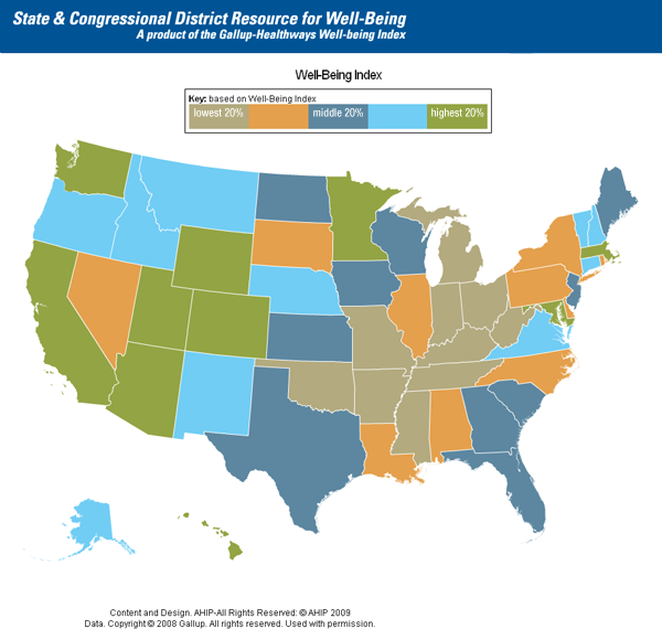 State & Congressional District Resource for Well-Being