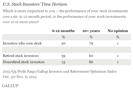 U.S. Stock Investors' Time Horizon