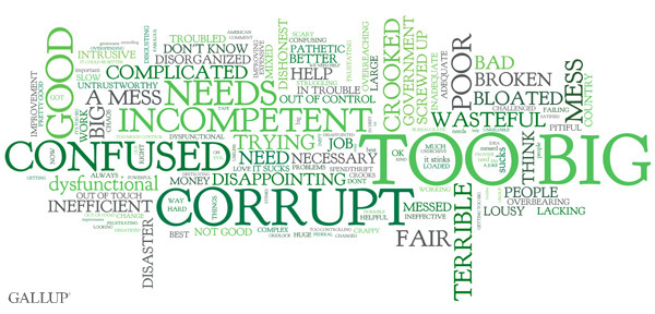 What Would You Say if Someone Asked You to Describe the Federal Government in One Word or Phrase?