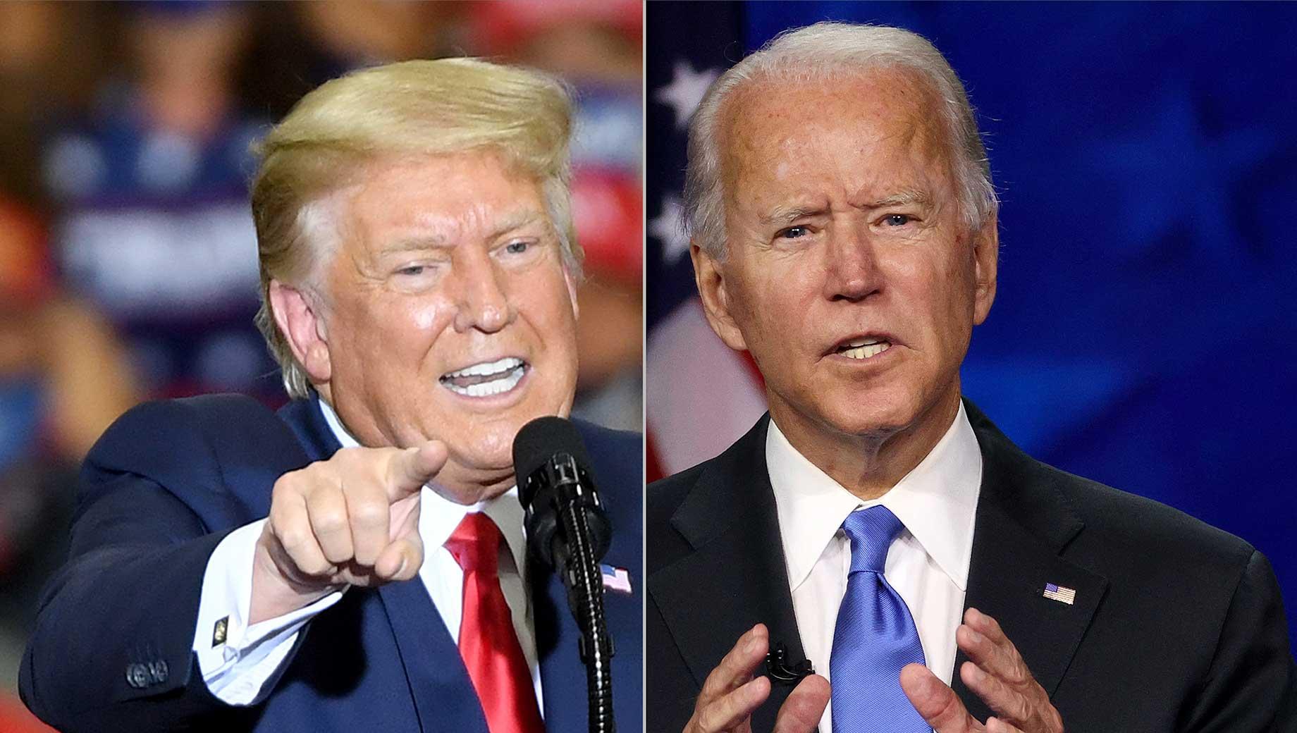 Trump, Biden Favorable Ratings Both Below 50%
