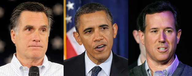 Romney, Santorum Closely Matched Against Obama Nationally