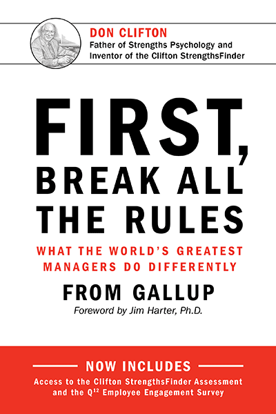 an image of First, Break All the Rules book cover