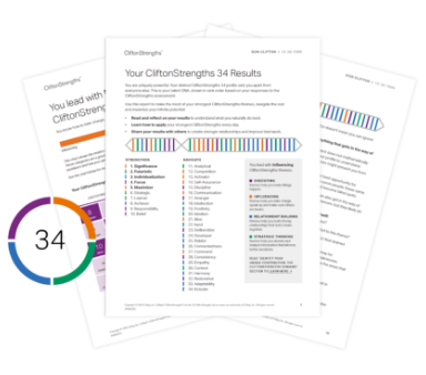 CliftonStrengths All 34 Report