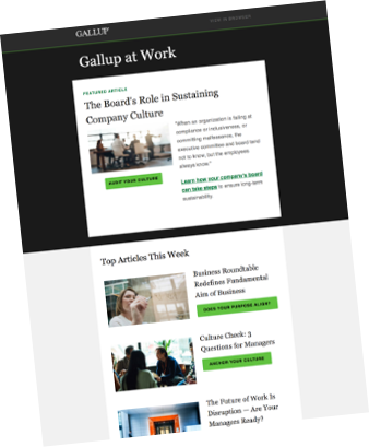 Copy of Gallup at Work Newsletter