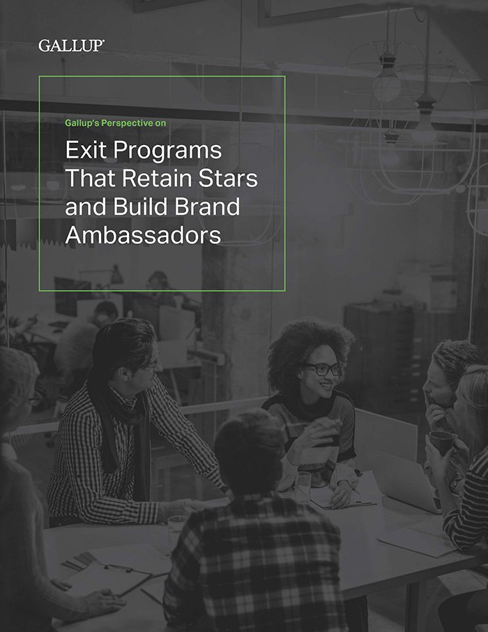 Gallup's Perspective on Exit Programs That Retain Stars and Build Brand Ambassadors