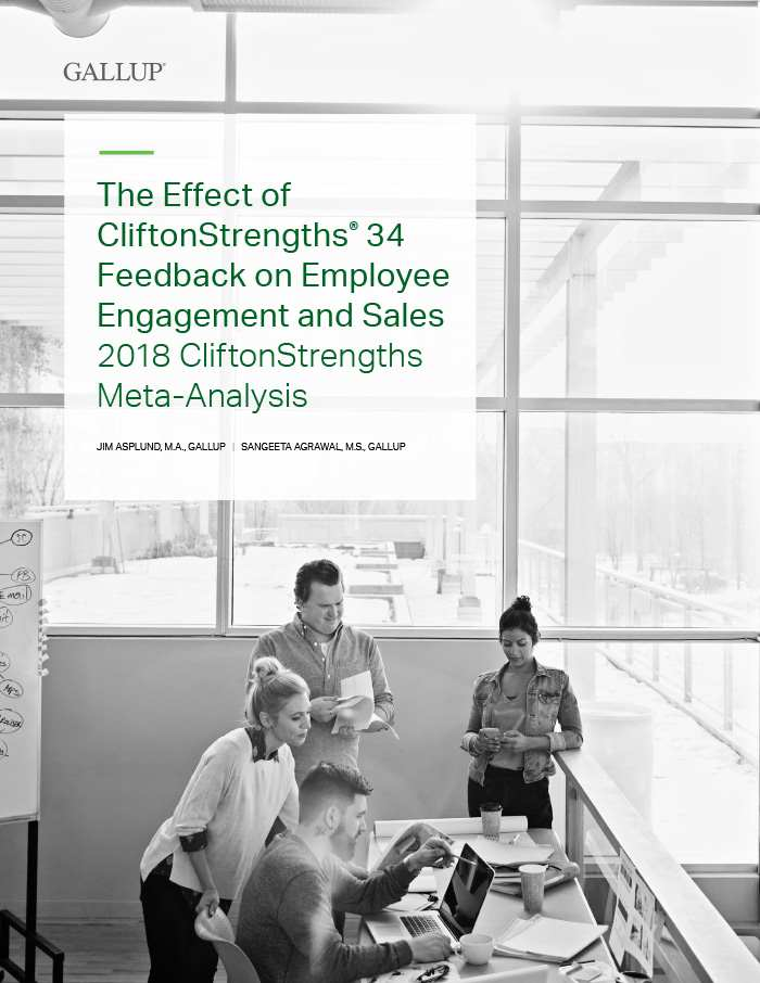 Cover of The Effect of CliftonStrengths 34 Feedback on Employee Engagement and Sales