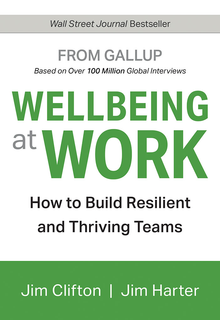 The cover of Gallup's new book, Wellbeing At Work.