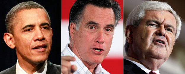 Romney Ties Obama in Swing States; Gingrich Trails