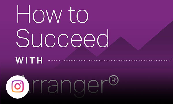 Purple graphic with text how to succeed with arranger.