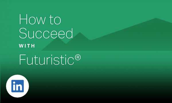 Green graphic background with text how to success with futuristic.