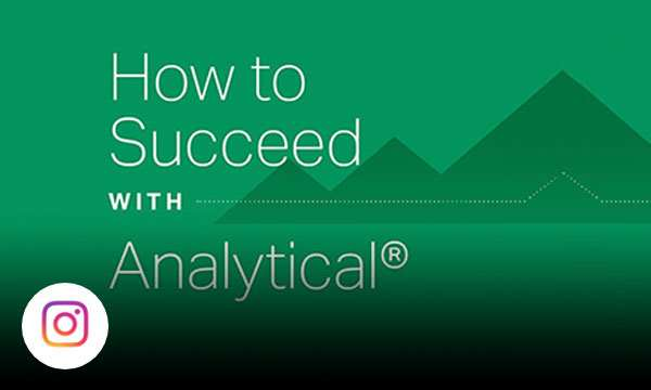 Green graphic background with text how to succeed with analytical.