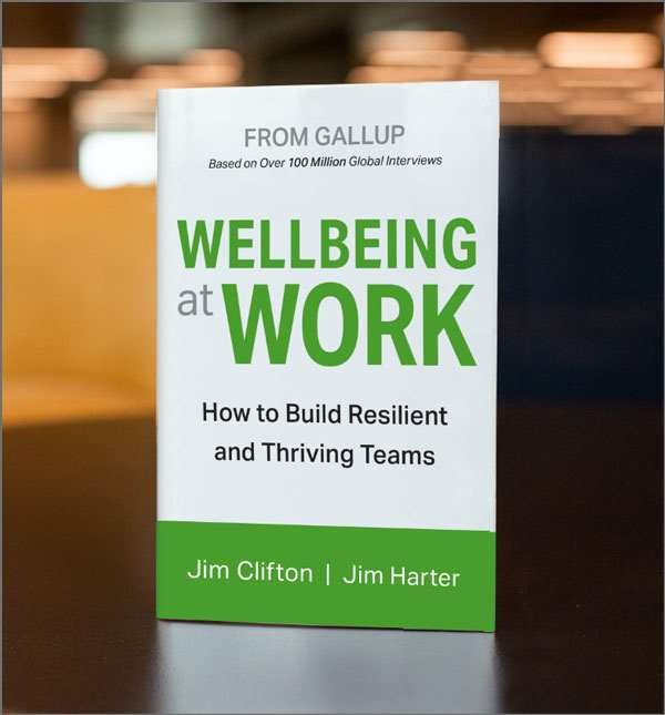 Descriptive image of the Wellbeing at Work book cover