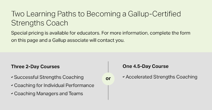 Learning Paths for Gallup Strengths Coaching Certification image